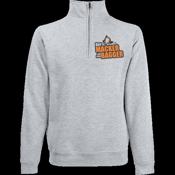 Der Macker mit dem Bagger - Pullover - Logo [grau]