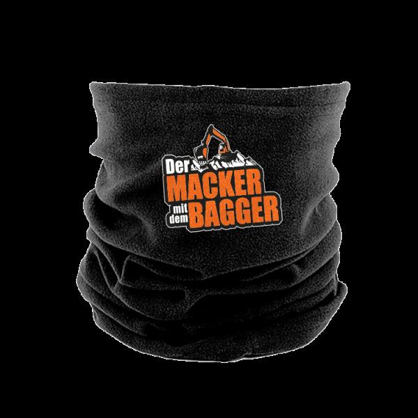Der Macker mit dem Bagger - Microfleece Schal [schwarz]