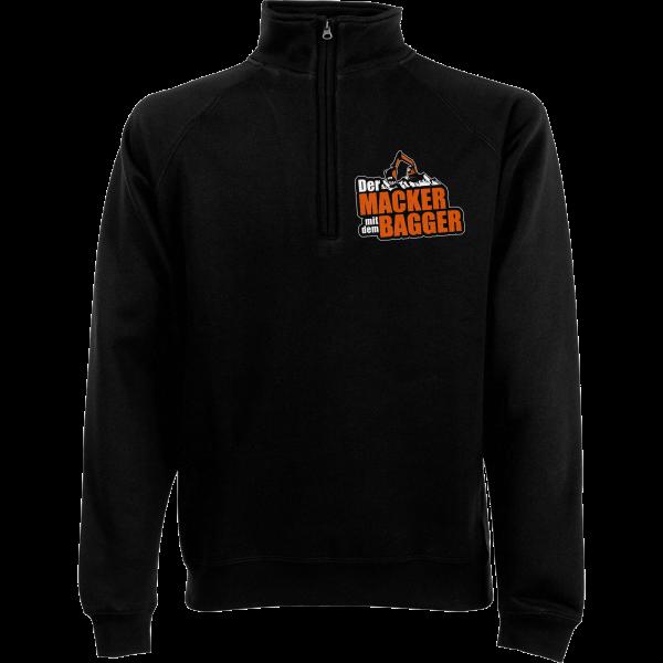 Der Macker mit dem Bagger - Pullover - Logo [schwarz]