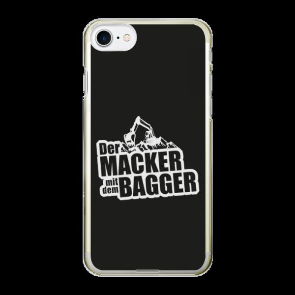 Der Macker mit dem Bagger Smartphone Case [Logo weiß]