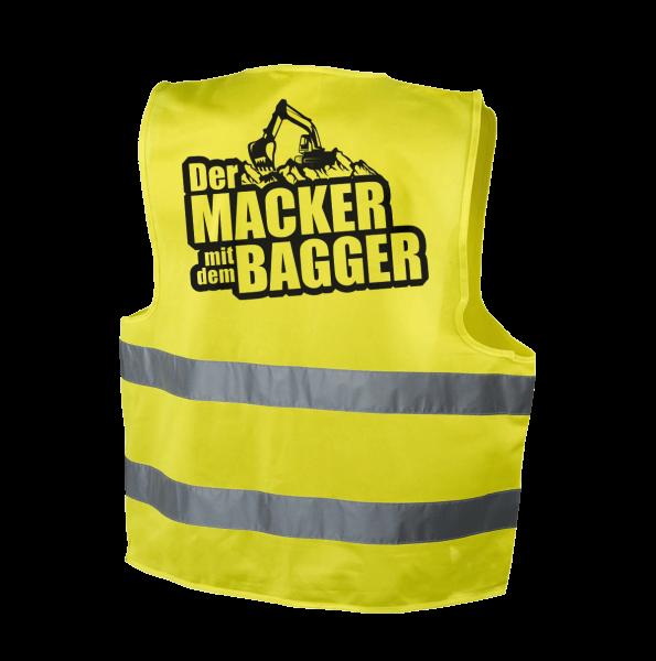 Der Macker mit dem Bagger - Warnweste [gelb]