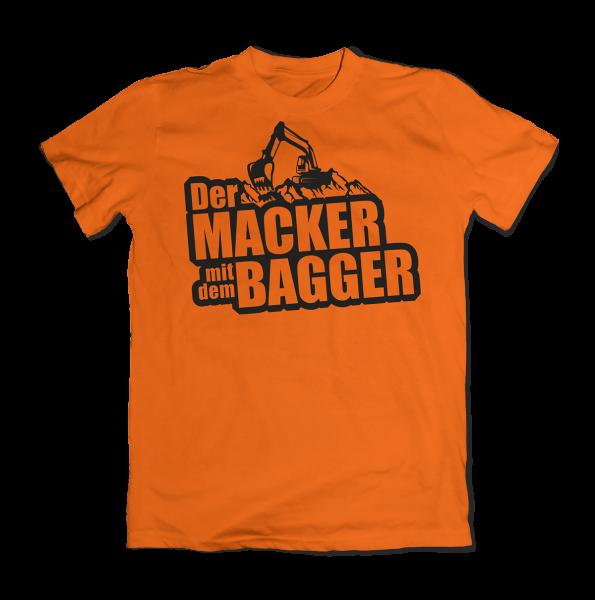 Der Macker mit dem Bagger - T-Shirt [orange]